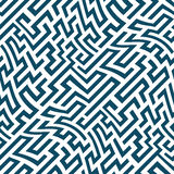 Vector graphic abstract geometry  maze pattern. blue seamless geometric background Royalty Free Stock Photography