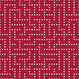 Vector graphic abstract geometry  maze pattern. red seamless geometric background Royalty Free Stock Images