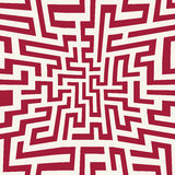 Vector graphic abstract geometry maze pattern. red seamless geometric labyrinth background Royalty Free Stock Photography