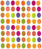Easter eggs background. Vector graphic background with beautiful colorful stylized easter eggs Stock Photography