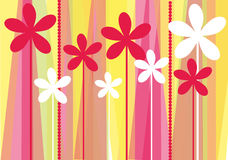 Colorful flowers background. Vector graphic background with beautiful colorful stylized flowers Royalty Free Stock Photo