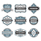 Vector graphic badges collection. Original vintage badges.