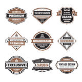 Vector graphic badges collection. Original vintage badges. Royalty Free Stock Photo