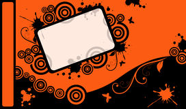 Vector graphic card. A illustration of vector orange graphic card Stock Photos