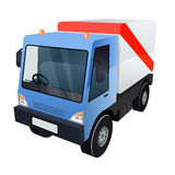Vector Graphic of Cargo Truck on White Background Royalty Free Stock Image