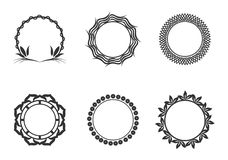 Vector graphic circle frames. Wreaths for design, logo template vector illustration