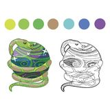 Coloring book snake stock illustration