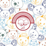 Vector graphic colorful drawing of personality face Stock Photography
