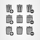 Vector graphic design basket trash can icon button Royalty Free Stock Photos