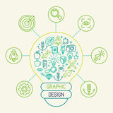 Vector graphic design concept Stock Photography