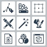 Vector graphic design icons set Stock Image