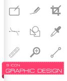 Vector graphic design icons set. On white background Stock Images