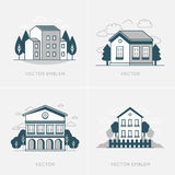 Vector graphic design and logo design template Stock Images