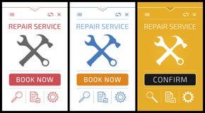 Online Repair Service App - Smartphone Screens royalty free illustration