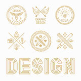 Vector graphic designer badges and logos stock illustration