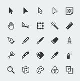Vector graphic editor icons set Stock Image