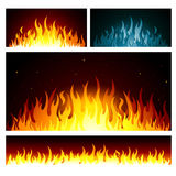 Vector graphic fire flames background. Design Stock Photo