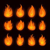 Vector graphic flames illustration isolated on black. Vector graphic flames illustration isolated on white background vector illustration