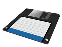 Vector graphic of a floppy in 3D. Vector graphic of a traditional floppy disk in three dimensions Royalty Free Stock Photo