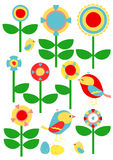 Flowers and Birds Royalty Free Stock Image