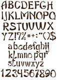 Vector graphic font set Royalty Free Stock Image