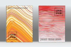 Vector graphic geometric covers. royalty free illustration