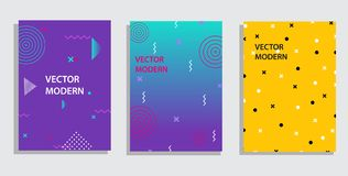 Vector graphic geometric elements and shapes for modern art. Covers for placard, poster, magazine, brochure royalty free illustration