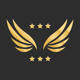 Vector graphic golden wings Royalty Free Stock Photo