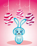 Easter rabbit and eggs Royalty Free Stock Images