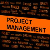 Word cloud of Project Management related items. Vector graphic illustration for Business concept Royalty Free Stock Images