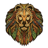 Vector graphic illustration of a lion's head Stock Images