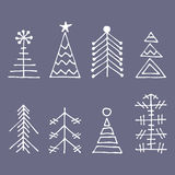 Vector graphic illustration, winter set Royalty Free Stock Photo