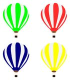 Colour balloons on white background. Vector graphic includeold colour balloons on white background Royalty Free Stock Image