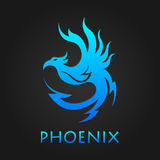 Vector graphic phoenix logo. Phoenix bird logotype template, freedom, development creativity concept Stock Photography