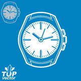 Vector graphic pocket watch illustration, invert version include Stock Photos