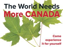 Tourism in Canada - a fresh feeling and you can breathe easy royalty free stock photos