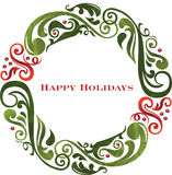 Vector graphic scroll holiday wreath. Vector graphic scroll holiday wreath on a white background Royalty Free Stock Photography