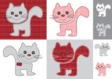 Vector graphic set with cats Stock Images