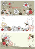 Vector graphic set with flowers Stock Images