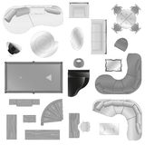 Vector graphic set of isolated interior furniture Stock Image