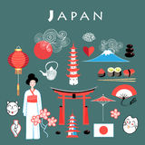 Vector graphic set Japan Royalty Free Stock Image