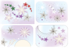 Vector graphic set with stars Royalty Free Stock Photos