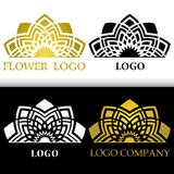 Vector graphic stylized floral symbol. Abstract flower for logo Royalty Free Stock Images