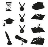 Vector graphic symbols of education Stock Photo