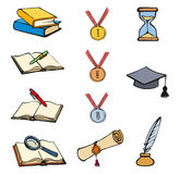 Vector graphic symbols of education Stock Images