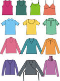 Vector graphic T-shirts in different colors Stock Images