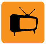 Vector. Graphic tv icon. Flat design.  illustration. Suitable for app, logo or design element. Royalty Free Stock Photography