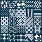 Vector graphic vintage textures created with squares, rhombuses Royalty Free Stock Image