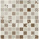 Vector graphic vintage textures created with squares, rhombuses Royalty Free Stock Images