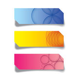 Vector graphic of web banner, header layout template. Colorful creative cover Stock Photography